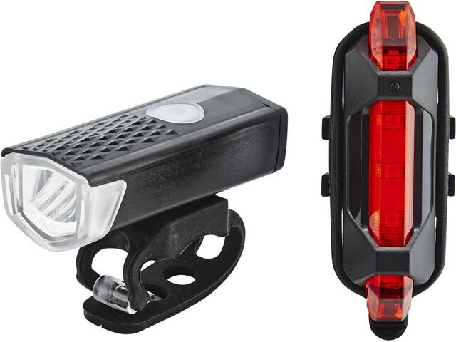 Cube RFR Power HQP Bike Lights Sets black